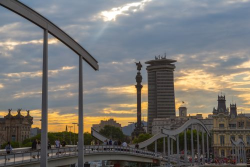 Eine tolle Aussicht in der Innenstadt nach der Ankunft in Barcelona