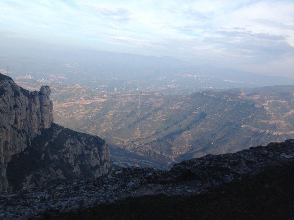 Der Aufstieg mit meinem Tandem nach Montserrat hat sich gelohnt!