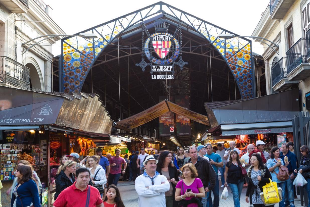 Der Bekannteste Markt in Barcelona ist die Boqueria