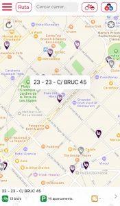 Plan Barcelona mit BICING Station